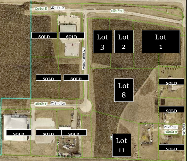 1.5 to 14.5 Acres Clear Creek Commons – Ames, Iowa Highway 30 – Boone County
